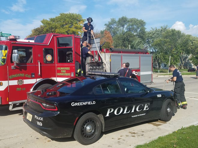 Milwaukee firefighters helped Greenfield firefighters and police at a fire that knocked out the power and water at the home of Greenfield Alderwoman Linda Lubotsky on Oct. 8.