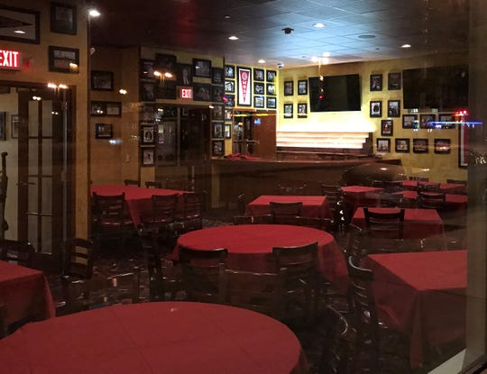 The dining room at the new Pizano's Pizza &  Pasta, 1150 N. Water St., is decorated in sports photos and Milwaukee School of Engineering gear. Like the bar, it has TVs for following sporting events. The restaurant is on the ground floor of MSOE's Grohmann Tower apartments.