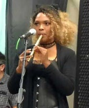After discovering the Rev. Ryan Duns' tin whistle lessons on YouTube, MeLinda Gaines plays in Texas in a band called The Naggins.