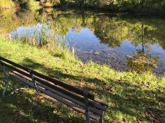 There may be no swimming at the former swimming hole at Estabrook Park anymore, but it's a beautiful place to sit and look at the water.
