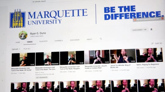 The Rev. Ryan Duns, a Jesuit priest teaching at Marquette University, has his own YouTube channel where he regularly posts tin whistle lessons.