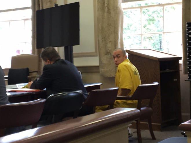 Edrick Martinez in Superior Court, Morristown on Oct. 9, 2018