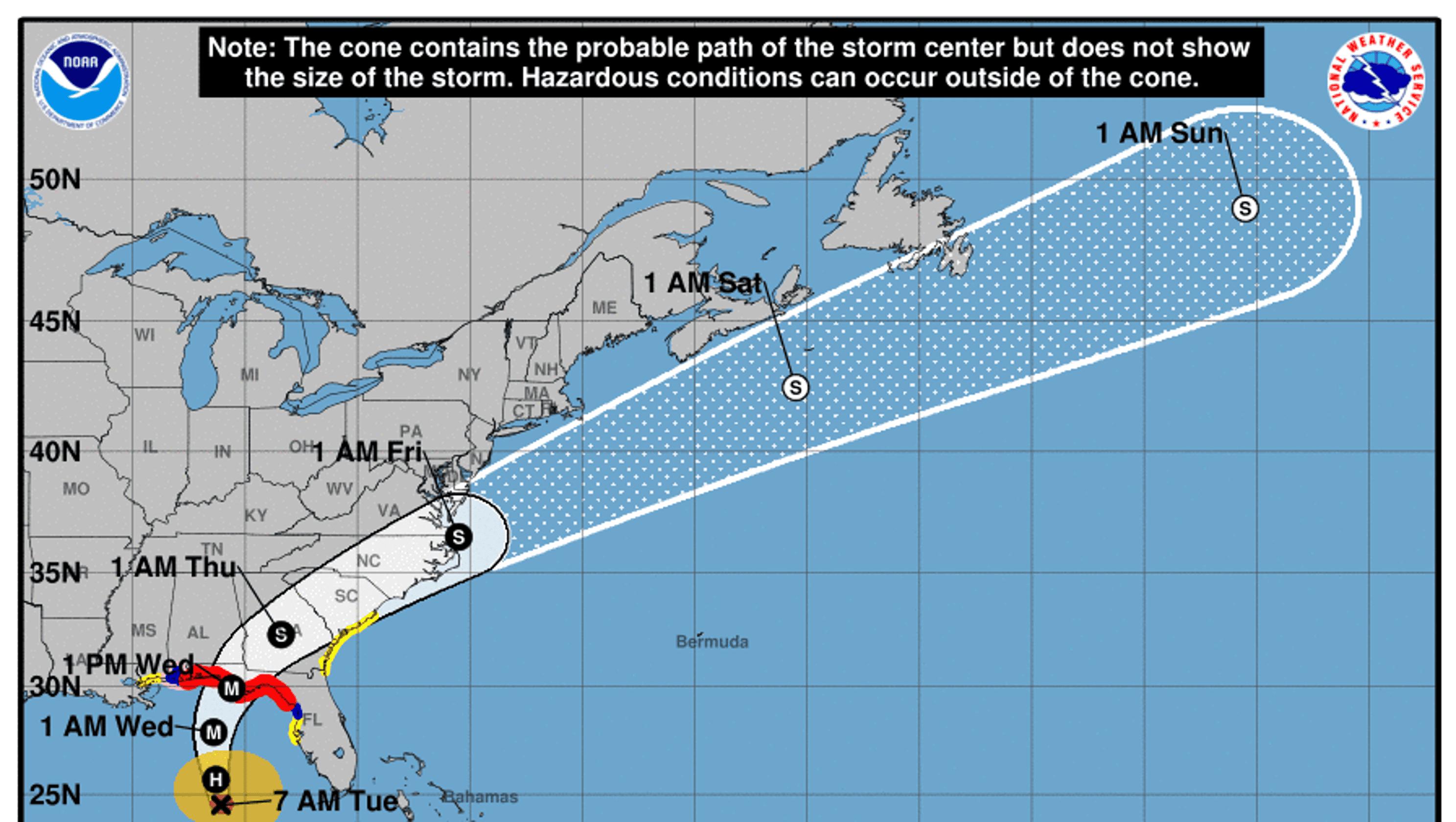 48aaa919c695 Hurricane Michael track  Rainfall expected