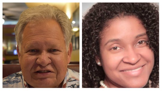 Jim Zeigler, left, and Miranda Joseph, candidates for state auditor of Alabama