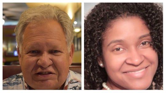 Jim Zeigler, left, and Miranda Joseph, candidates for state auditor of Alabama