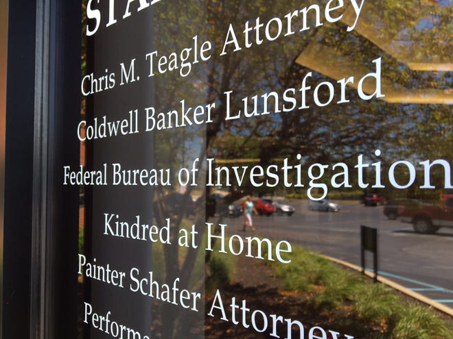 A sign outside the Muncie office of the FBI.