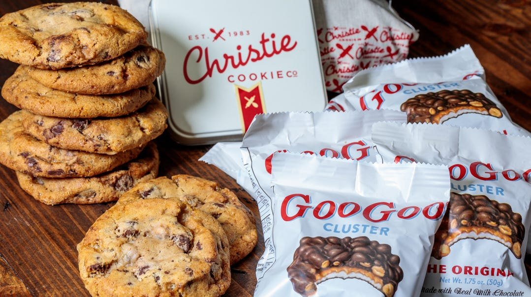 Here's your chance to try a Goo Goo Cluster Christie Cookie — or a Christie Cookie Goo Goo Cluster