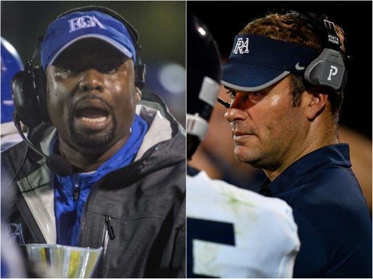 BGA coach Roc Batten (left) and FRA coach Bill Whittemore (right)