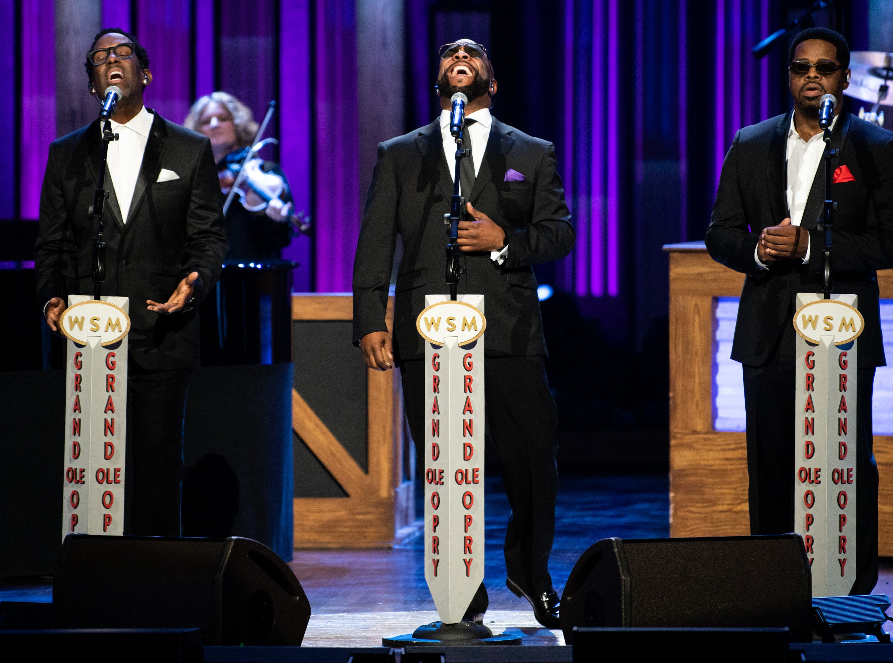 Boyz II Men performs during the An Opry Salute to Ray Charles concert at The Grand Ole Opry in Nashville, Tenn., Monday, Oct. 8, 2018.