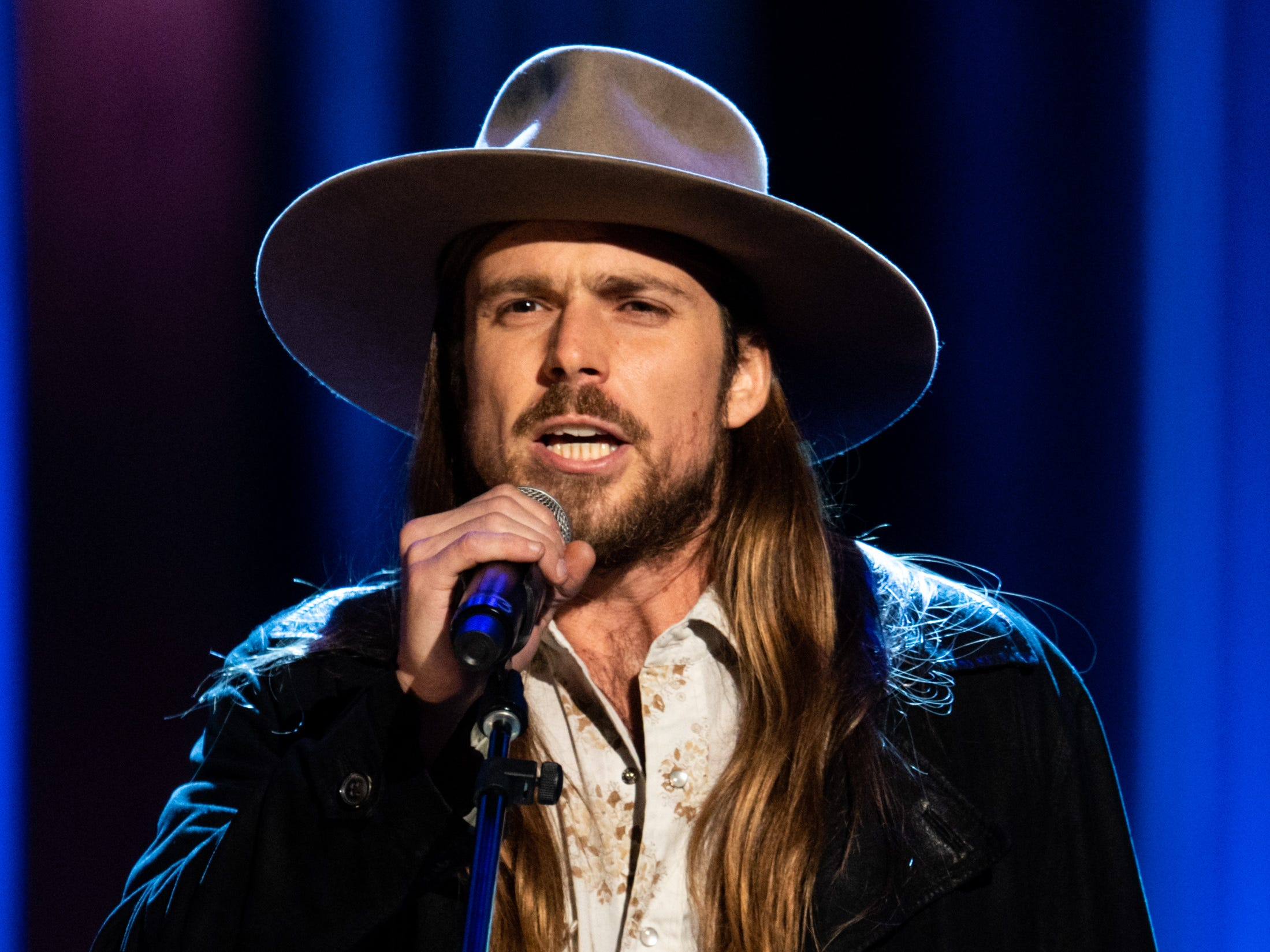 Lukas Nelson performs during the An Opry Salute to Ray Charles concert at The Grand Ole Opry in Nashville, Tenn., Monday, Oct. 8, 2018.