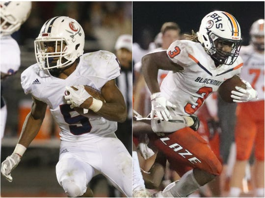 Cookeville's Jaeden Mcallister (left) and Blackman's Ta'Micus Napier (right)