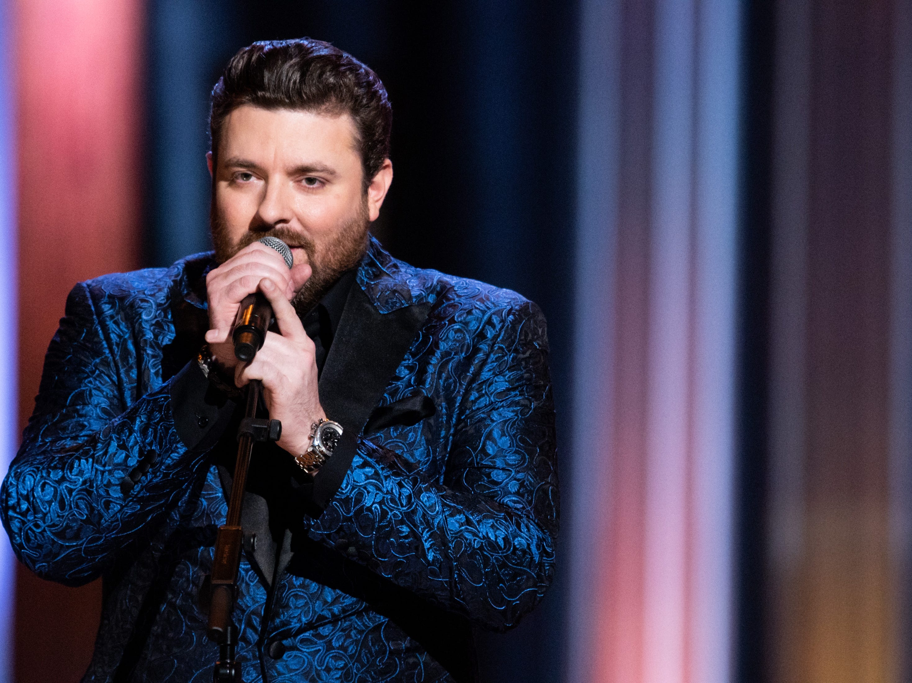 Chris Young performs during the An Opry Salute to Ray Charles concert at The Grand Ole Opry in Nashville, Tenn., Monday, Oct. 8, 2018.