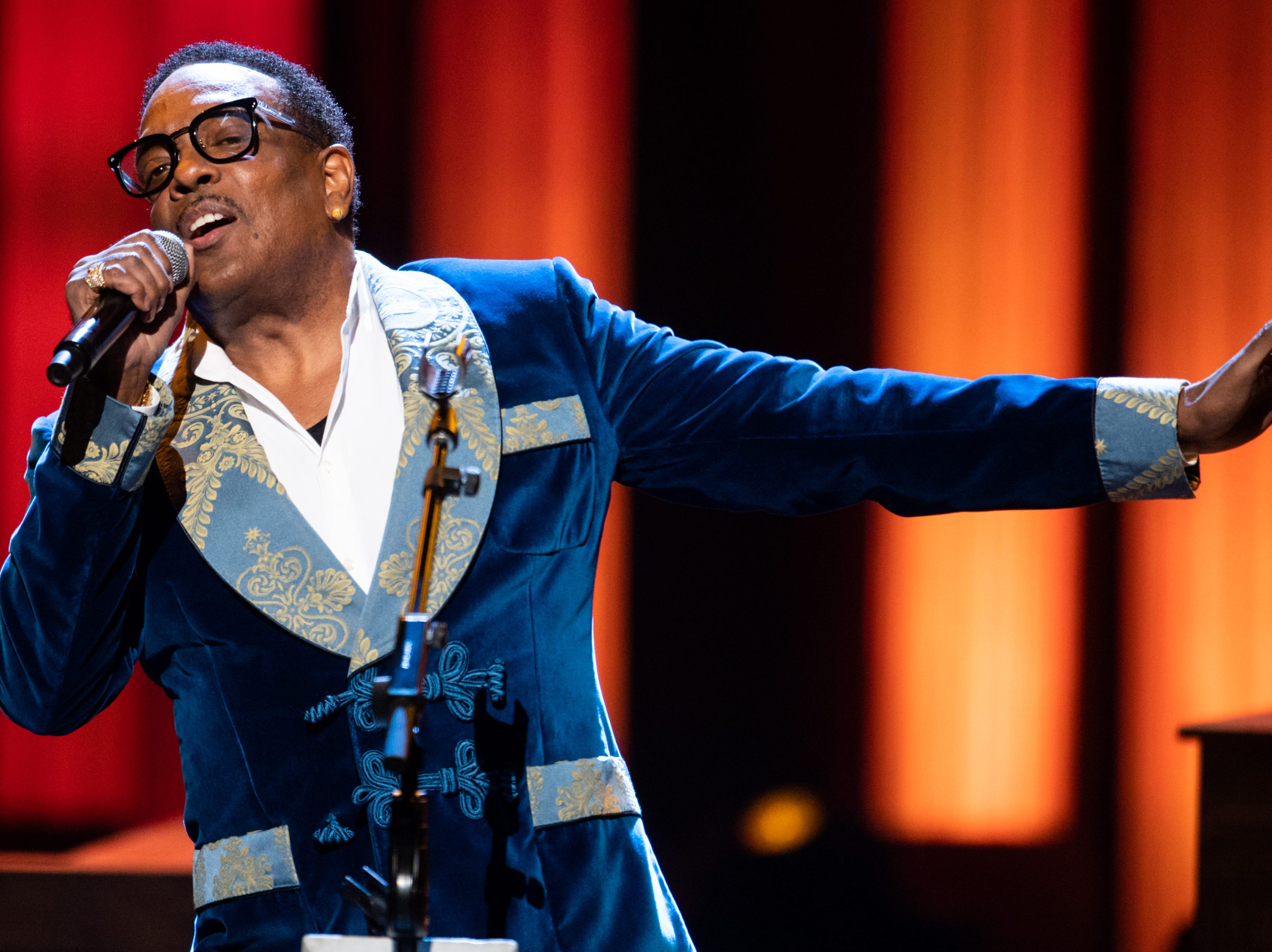 Charlie Wilson performs during the An Opry Salute to Ray Charles concert at The Grand Ole Opry in Nashville, Tenn., Monday, Oct. 8, 2018.