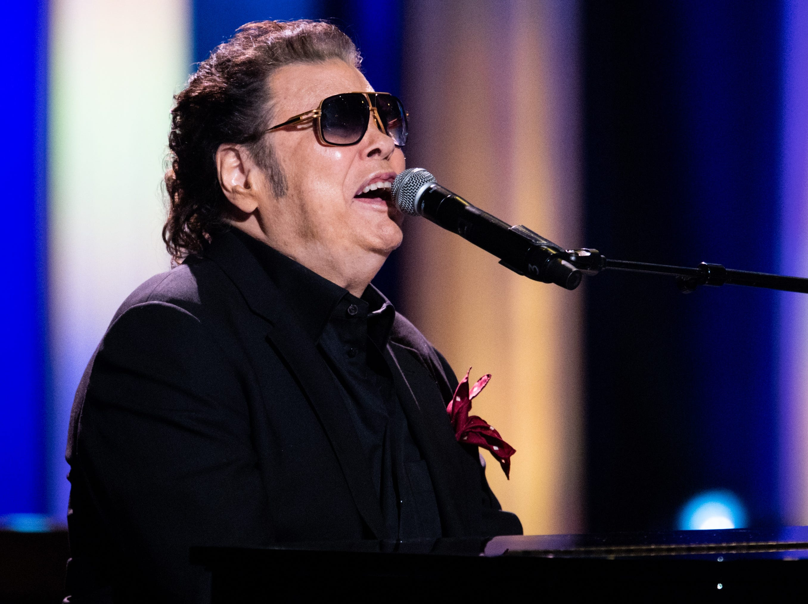 """Ronnie Milsap performs during """"An Opry Salute to Ray Charles"""" at the Grand Ole Opry in Nashville on Oct. 8, 2018."""
