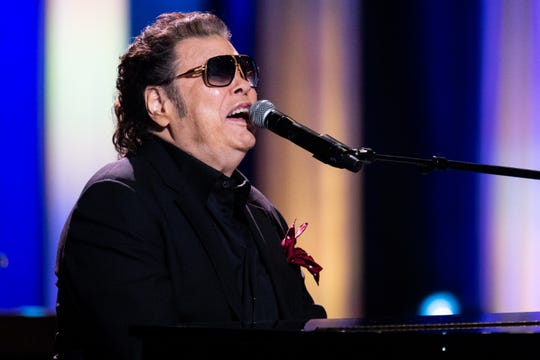 "Ronnie Milsap performs during ""An Opry Salute to Ray Charles"" at the Grand Ole Opry in Nashville on Oct. 8, 2018."