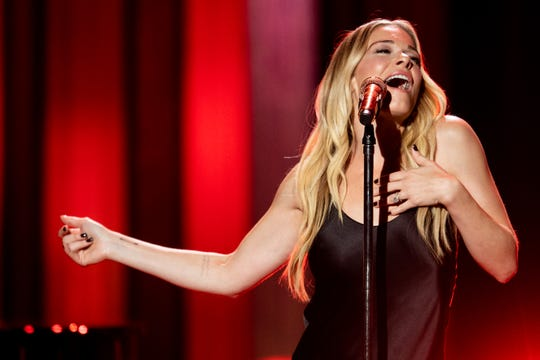 "LeAnn Rimes performs during ""An Opry Salute to Ray Charles"" at the Grand Ole Opry in Nashville on Oct. 8, 2018."