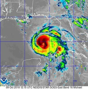Hurricane Michael Tuesday morning in the Gulf of Mexico