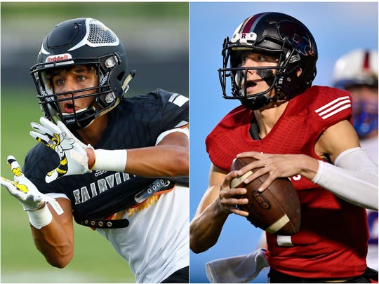 Fairview's Kam Harris-Lusk (left) and Ravenwood's Brian Garcia (right)