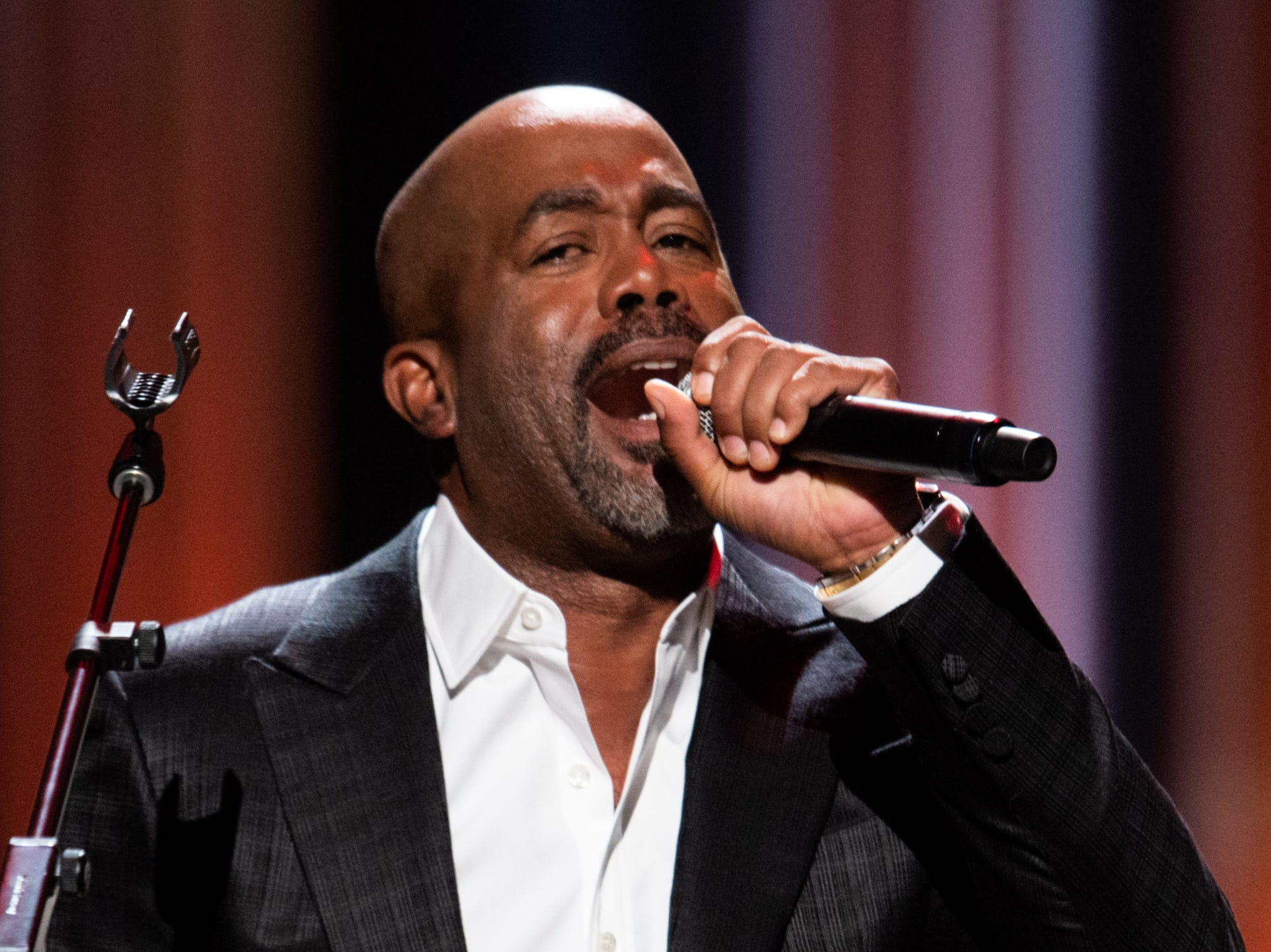 Darius Rucker performs during the An Opry Salute to Ray Charles concert at The Grand Ole Opry in Nashville, Tenn., Monday, Oct. 8, 2018.