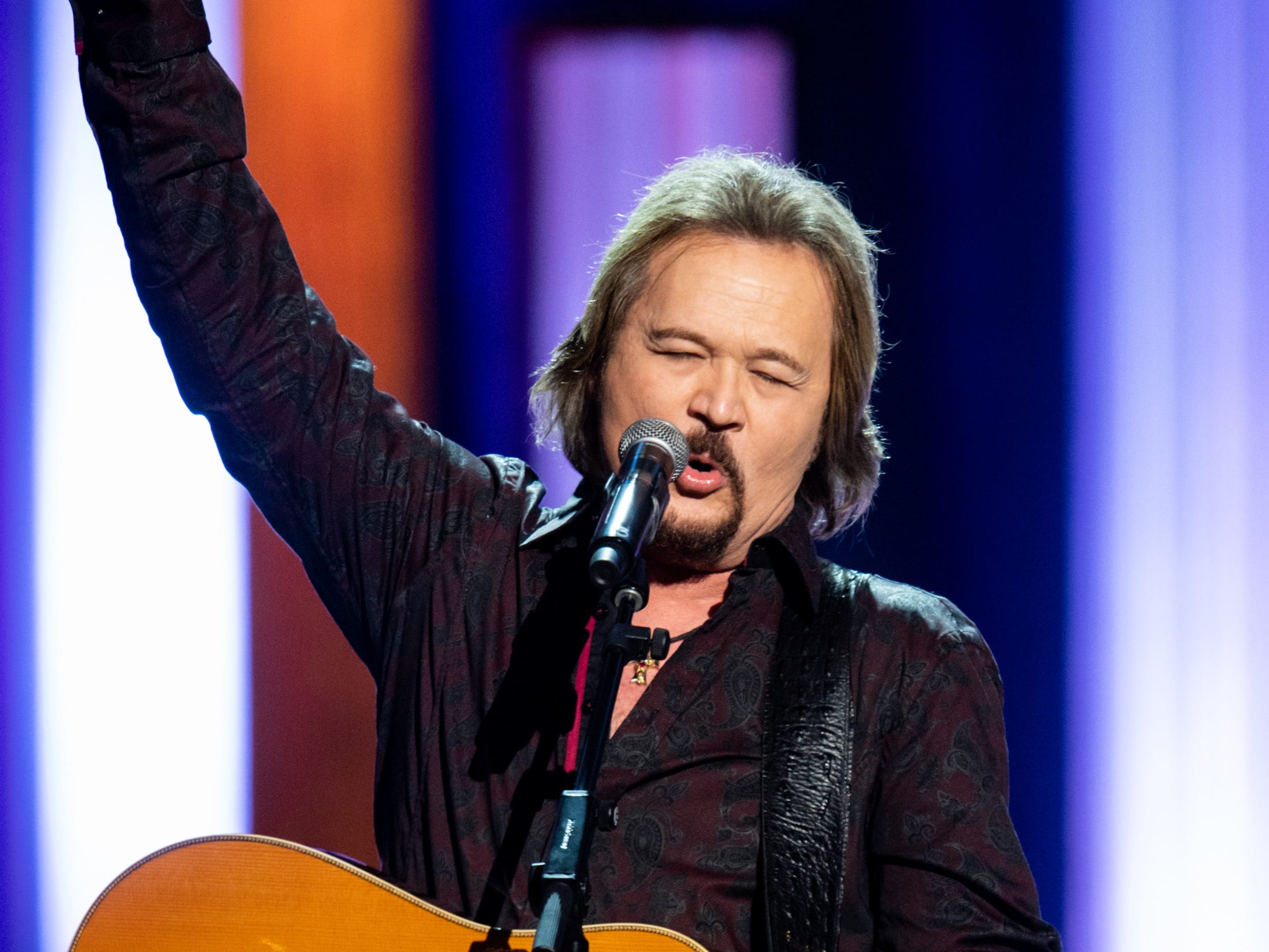 Travis Tritt performs during the An Opry Salute to Ray Charles concert at The Grand Ole Opry in Nashville, Tenn., Monday, Oct. 8, 2018.