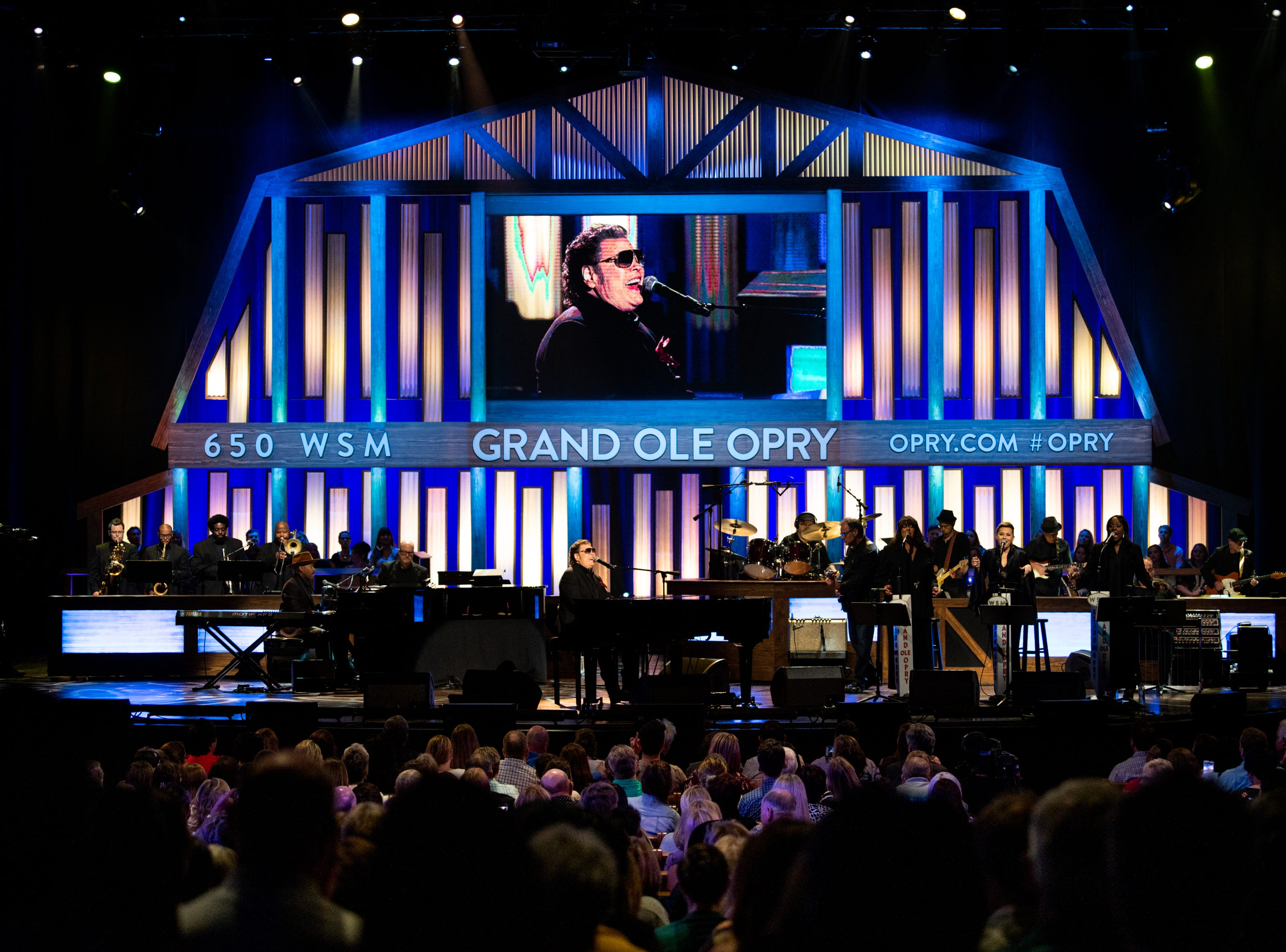 Ronnie Milsap performs during the An Opry Salute to Ray Charles concert at The Grand Ole Opry in Nashville, Tenn., Monday, Oct. 8, 2018.