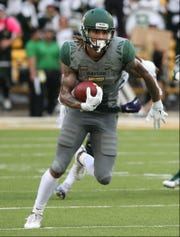 Former Tennessee running back Jalen Hurd is now a wide receiver at Baylor, but has started running the ball most often.