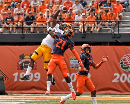 Jartavius Martin, a true freshman cornerback from Lehigh, has started from the get-go at Illinois and he is tied for the Big Ten lead with three interceptions.