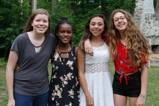 Daniela Flores, third from left, with fellow campers.