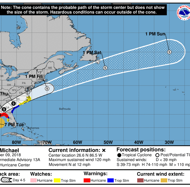 Hurricane Michael strengthens to Category 3; expected to make landfall near Category 4