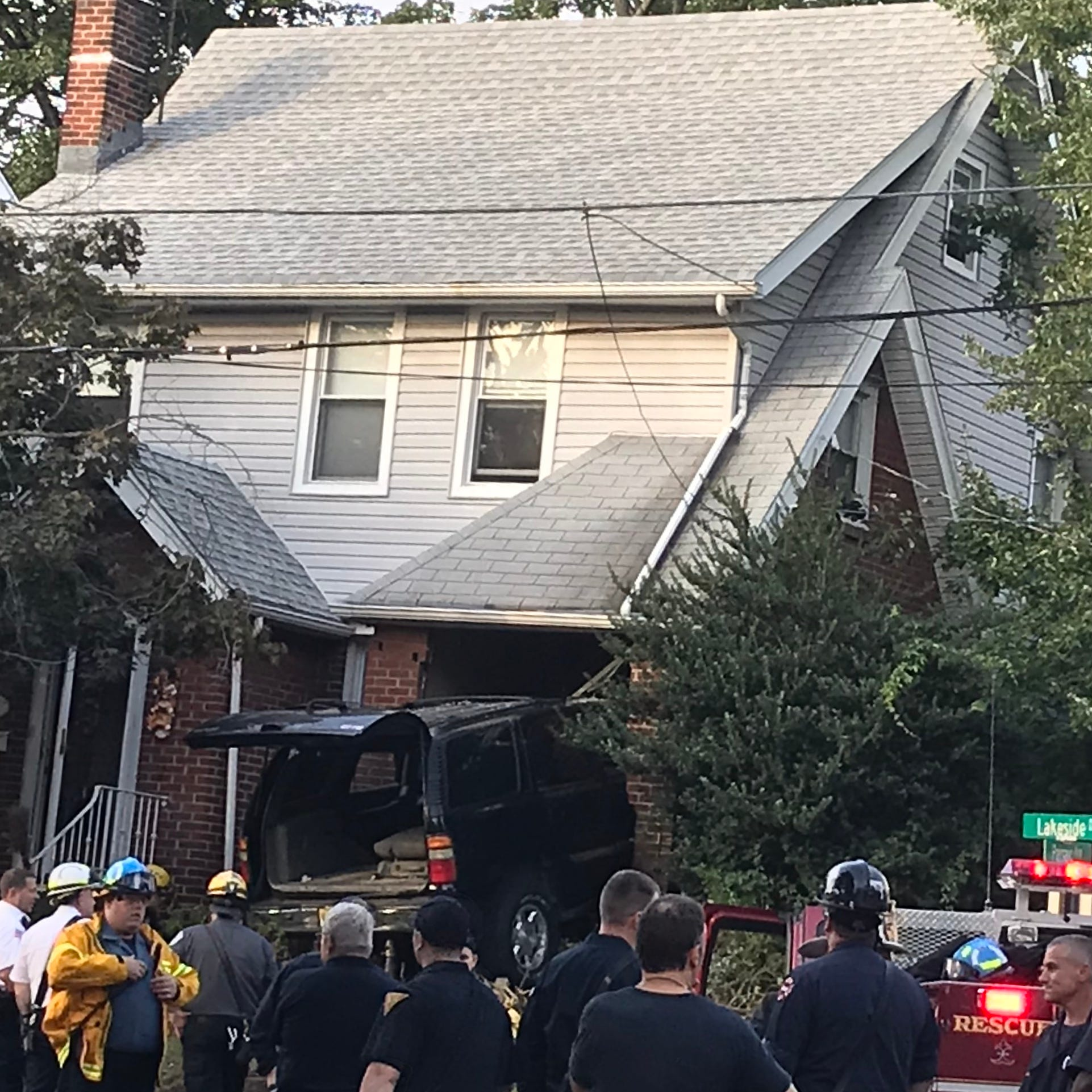 SUV crashes deep into Nutley home; driver taken to hospital