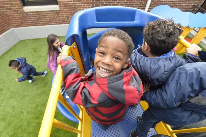 A Teaneck preschooler at Bryant School back in 2016.