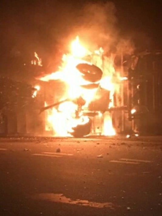 Fiery Car Crash in New Milford