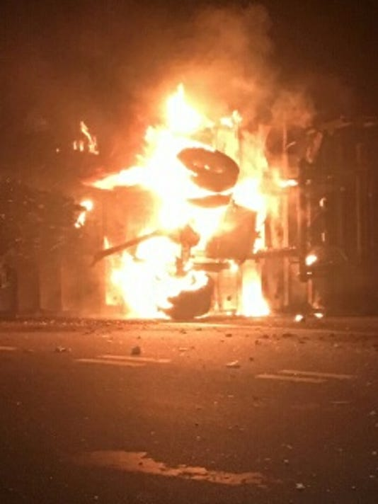 Fiery Car Crash in New Milford