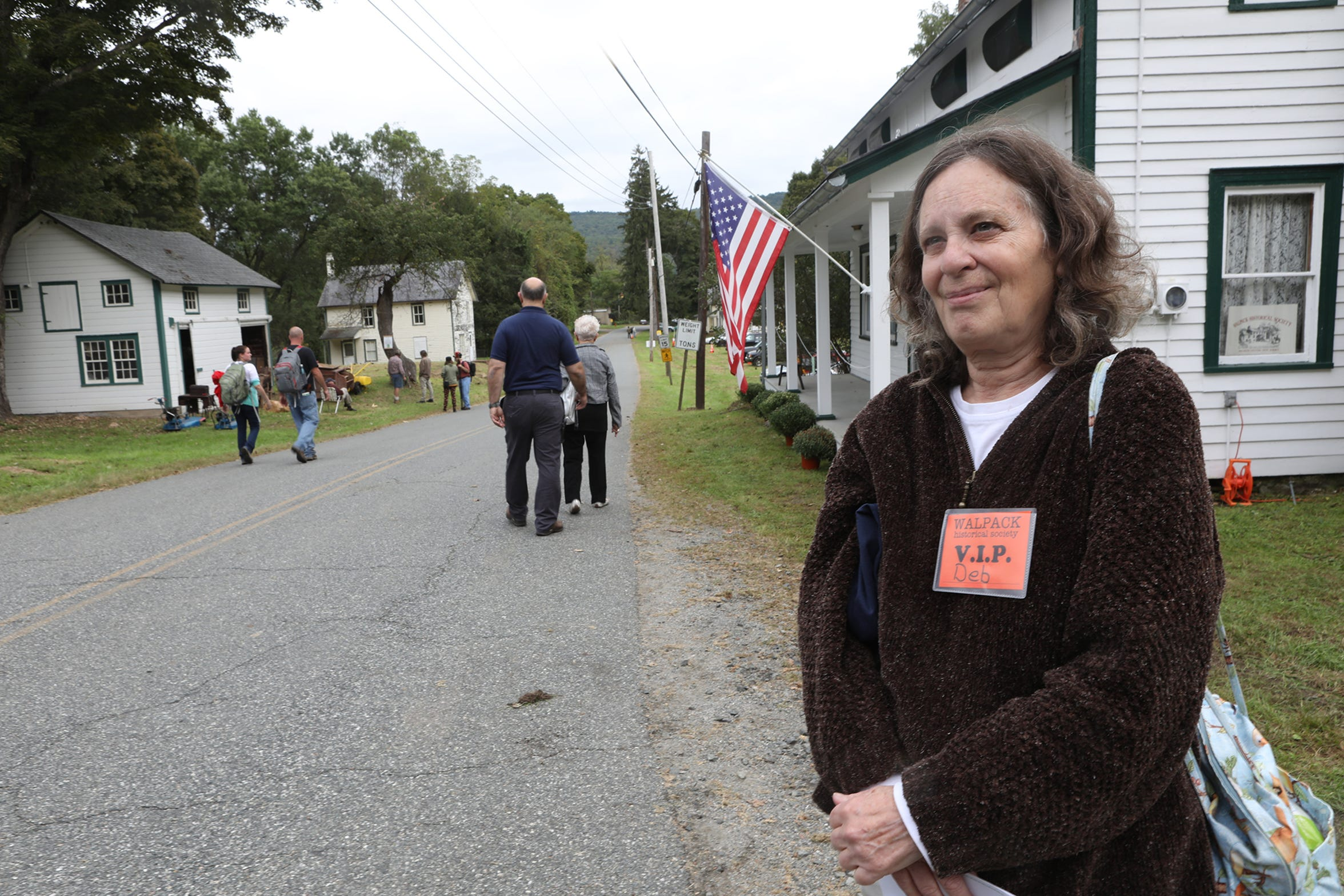Deborah Robbins Lantz, 63, currently of Milford, PA,  is shown in Walpack, where she grew up, before her family was forced to move. Sunday, September 23, 2018