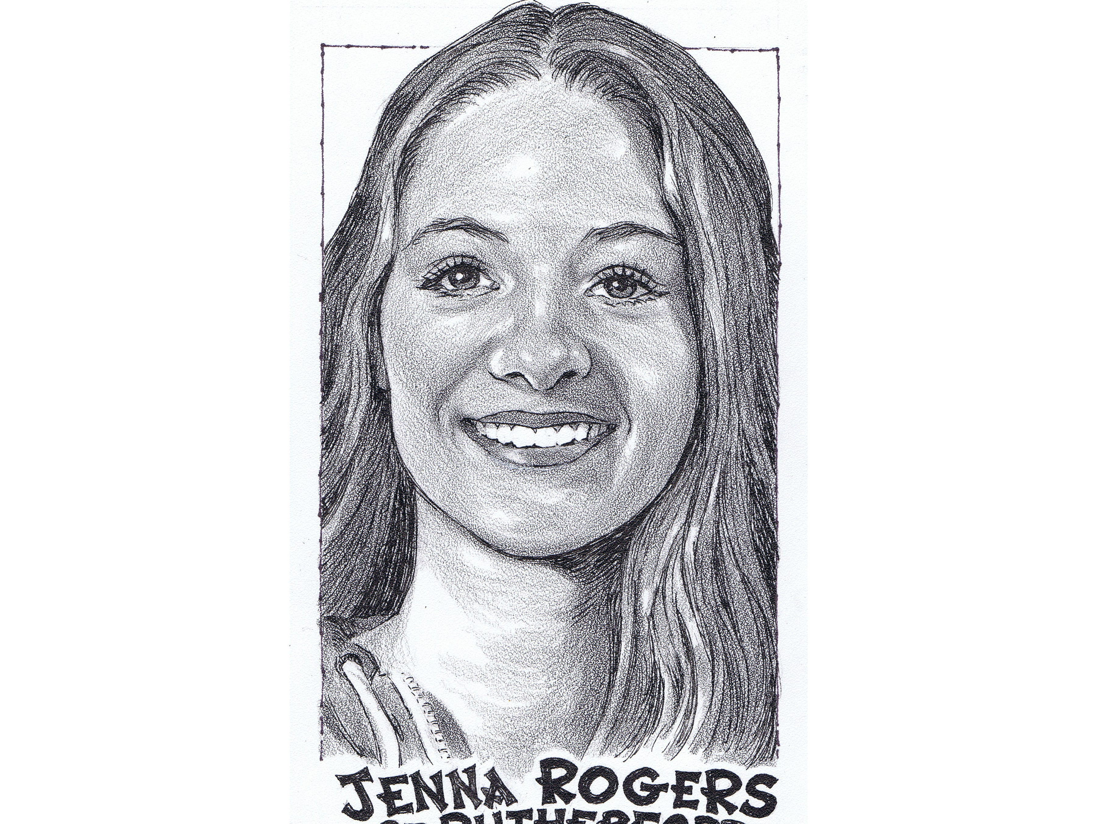 Jenna Rogers, Rutherford volleyball