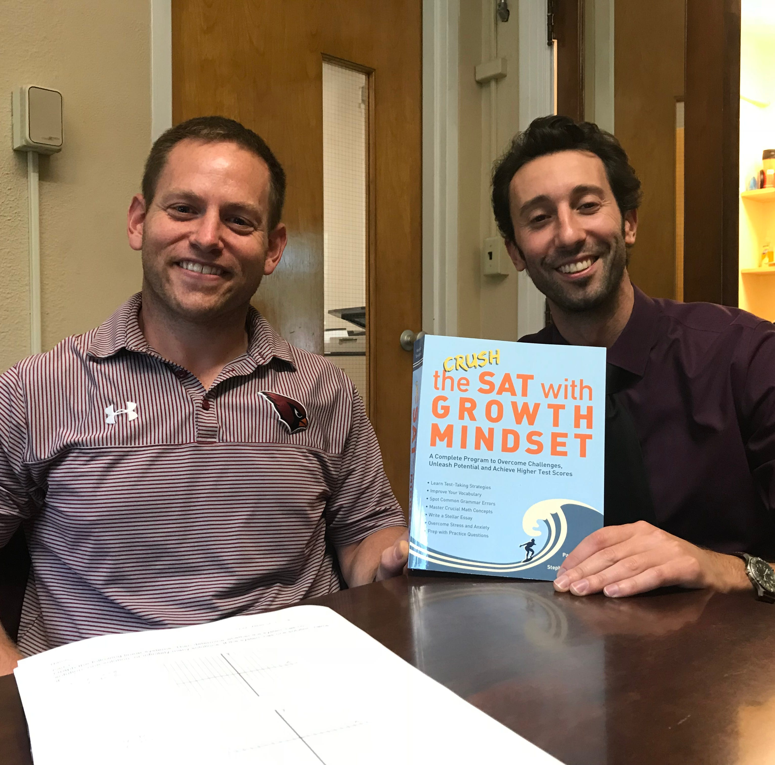 Two very different local teachers with help from 'brutally honest' students pen SAT prep book