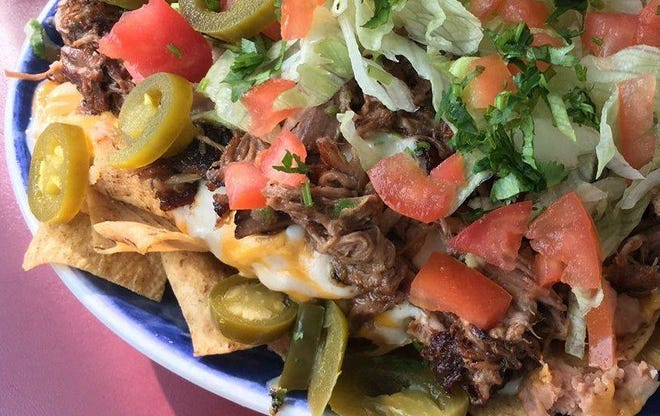 Las Cruces plans to make the world's biggest nachos in November. Pictured are the award-winning nachos from El Patron Café.