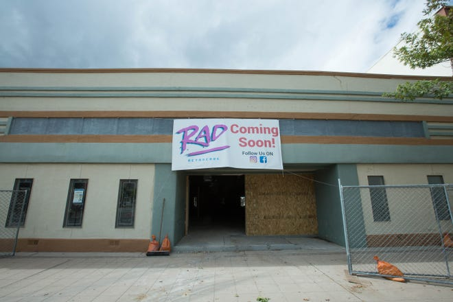 RAD Retrocade, a planned restaurant, arcade and bar, is seen on Main Street in downtown Las Cruces on Monday, Oct. 8, 2018. Its first phase is slated to open in January 2019.