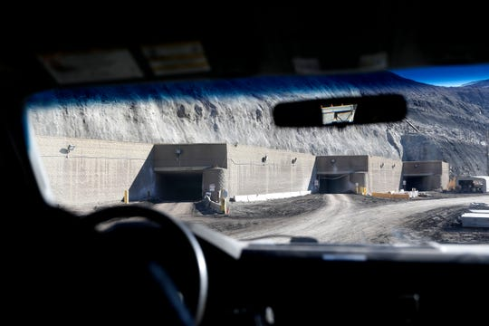 The entrance in to the San Juan Mine is pictured during a tour of the facility on Wednesday, Jan. 13, 2016, at the mine in Waterflow