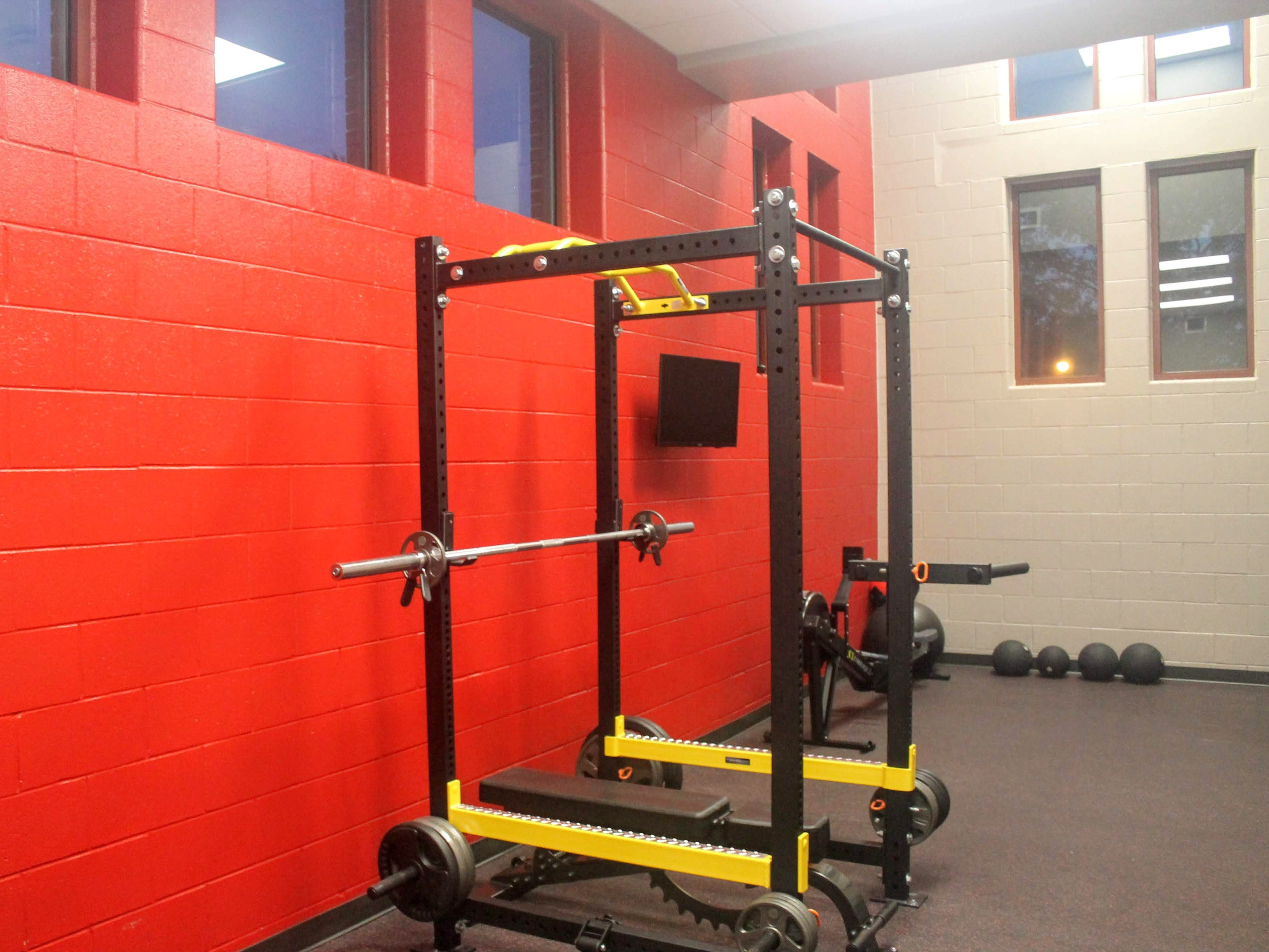 The new workout facility in the Chesterfield Fire Station.