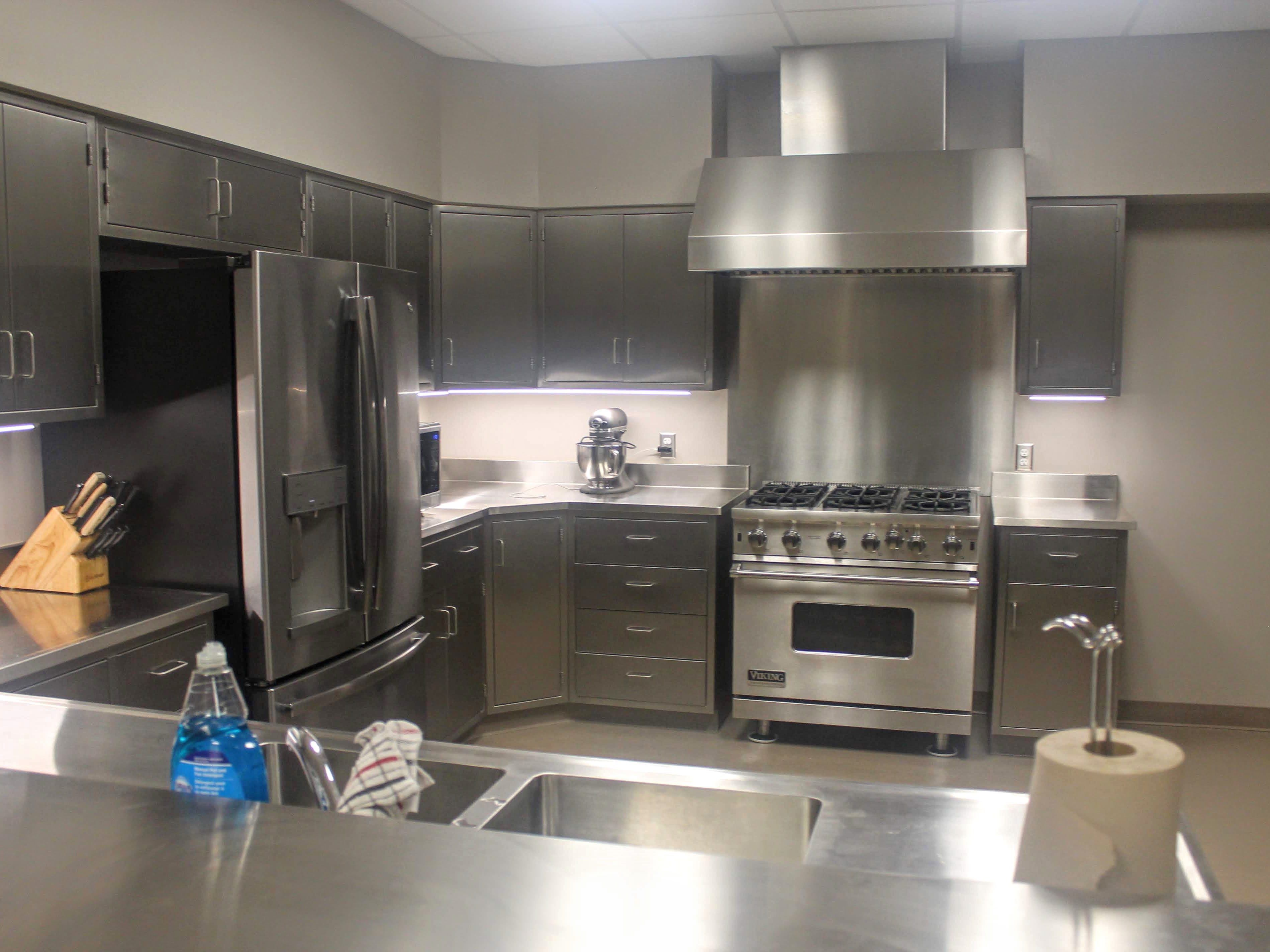 The new kitchen in the fire station.