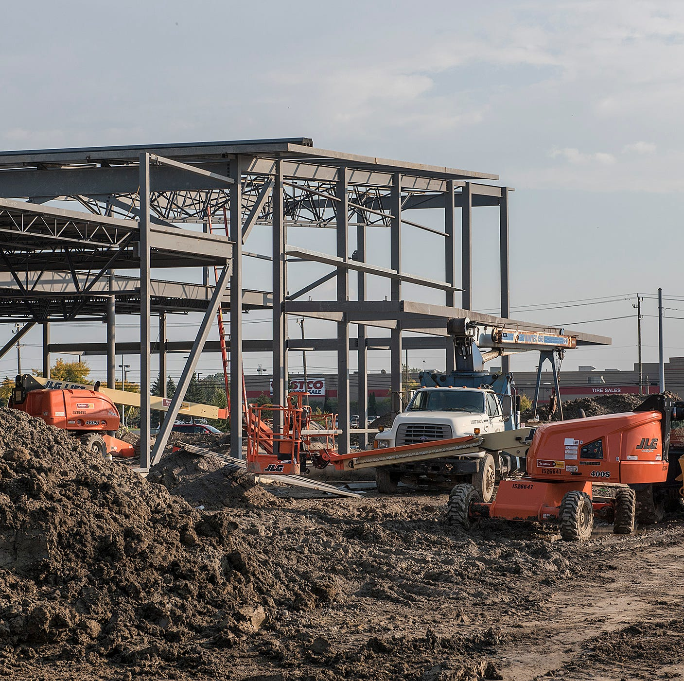 The new Aldi store is under construction at the northeast corner of Middlebelt Road and Interstate 96.