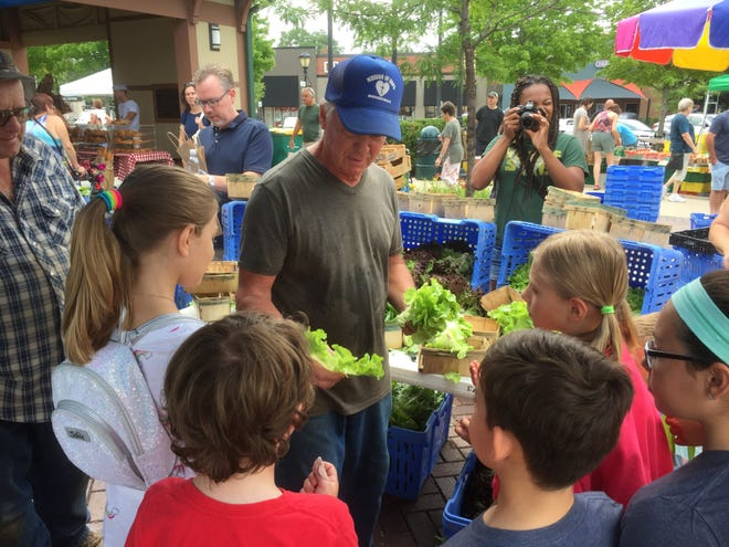 Farmer Bill Gass ( a former math teacher) talks about the Power of Produce (POP), helping kids at the market learn where food comes  from.