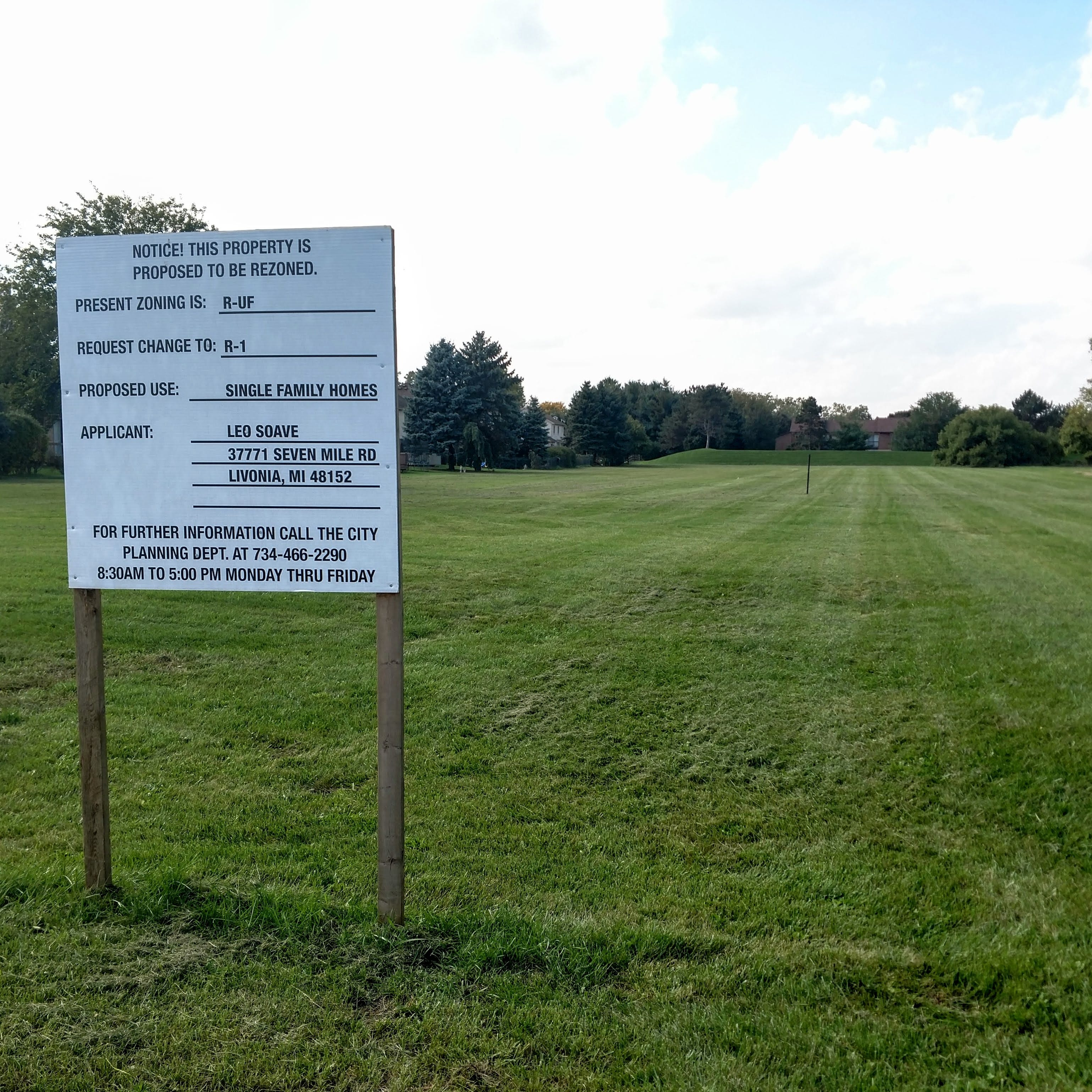 Developer seeking to build up to 20 homes on vacant Livonia lot