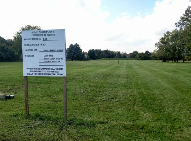 As many as 20 homes are planned for this lot off Farmington Road south of Eight Mile in Livonia.