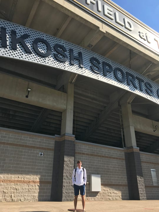 Turner Geisthardt is familiar with Titan Stadium. He played here both with Oshkosh North and UWO.