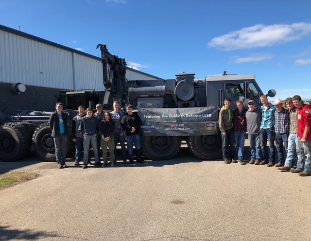 Local high school students participated in Manufacturing Day Oct. 4 at one of Oshkosh Corporation manufacturing facilities.