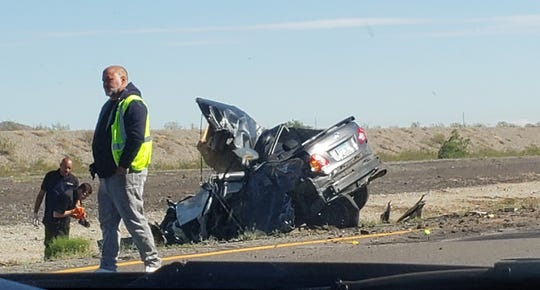One person died in a fatal three-vehicle collision on Interstate 10 on the morning of Tuesday, Oct. 9, 2018.