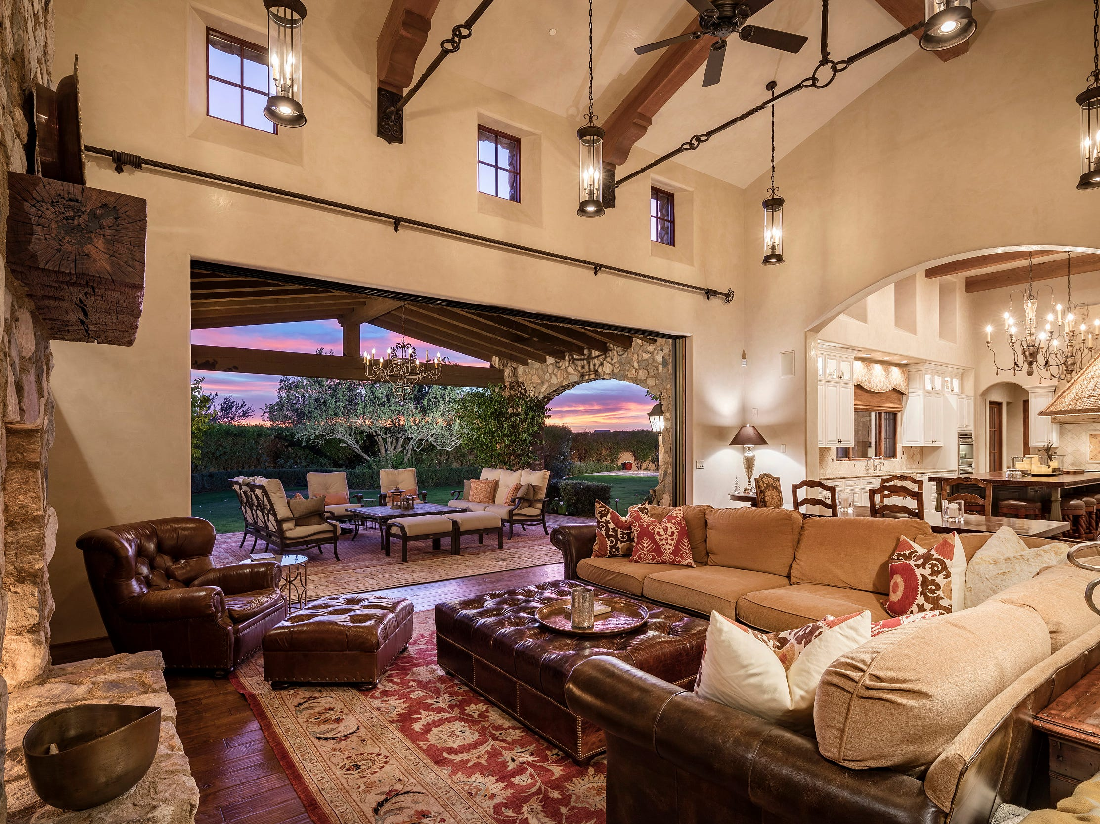 Sherman Ross Crowder, and his wife Greta Gissy, purchased this 6,178-square-foot mansion with 5 bedrooms and 6.5 bathrooms in Scottsdale's Arcadia at Silverleaf community in the Country Club area of DC Ranch.  The Santa Barbara/Tuscan-style house wraps around a center courtyard garden that has direct access to a separate guest house.