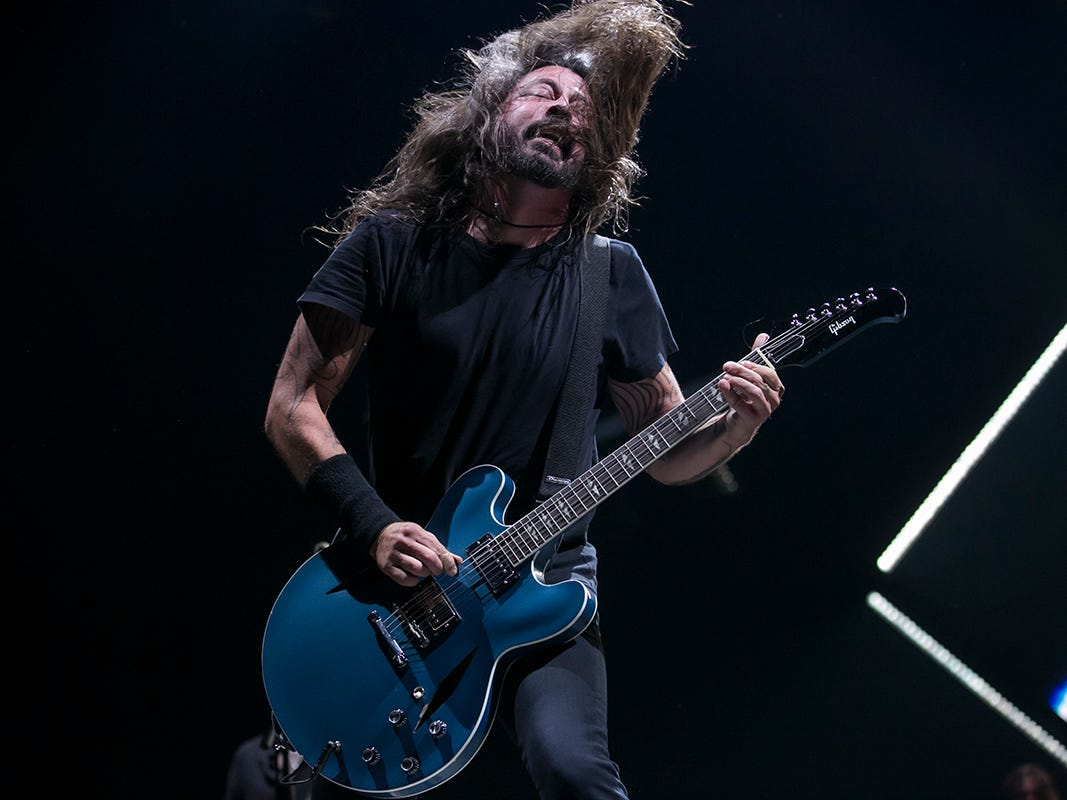 Foo Fighters perform at Talking Stick Resort Arena, Monday, Oct. 8, 2018, in Phoenix.